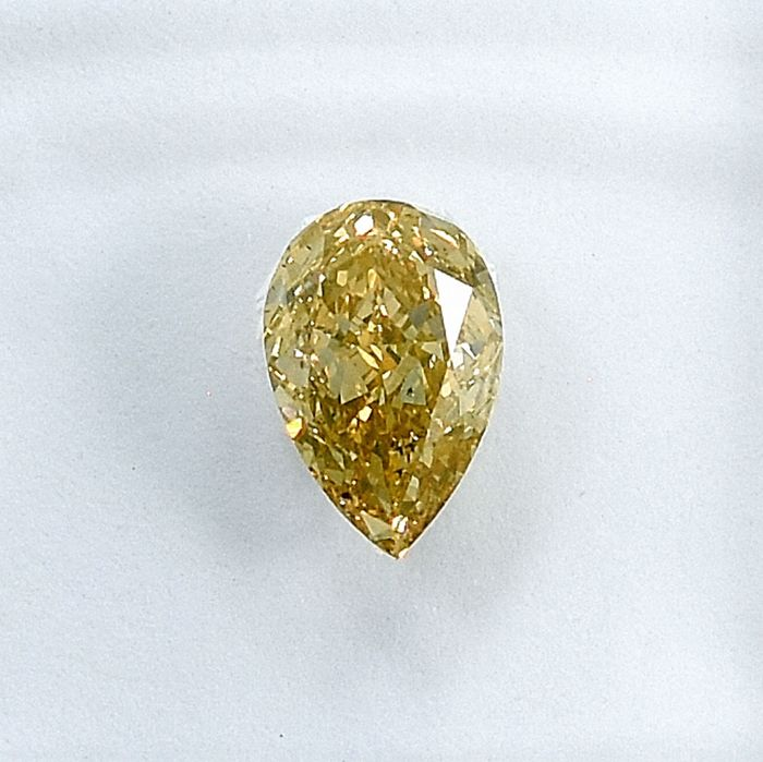 Diamant - 0.62 ct - Poire - Y-Z, Light brown - Si2 - NO RESERVE PRICE