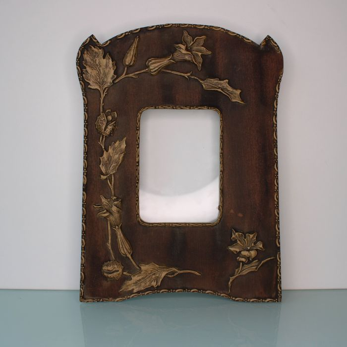Art Nouveau large floral photo frame.