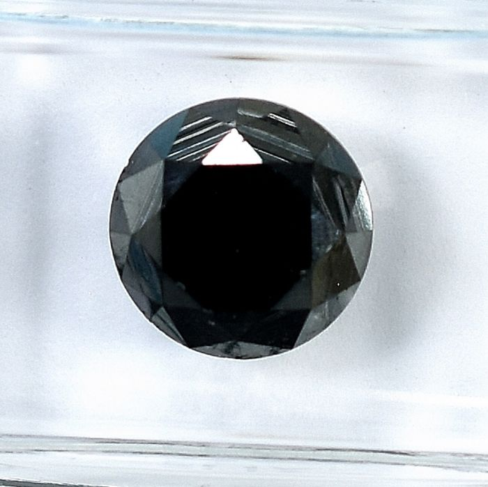 Diamond - 3.48 ct - Brilliant - Black - N/A