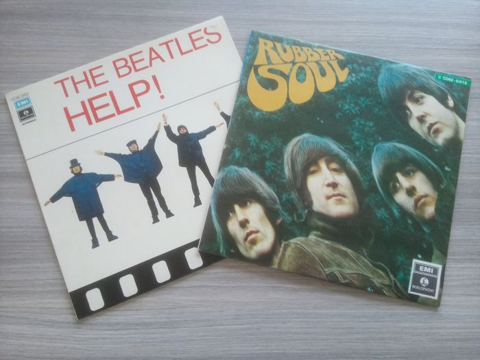 Beatles - Help ! & Rubber Soul (Italy) - Multiple titles - LP's - 1965/1965
