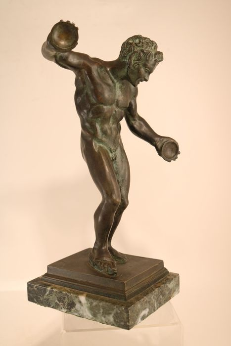 Antique statue of a satyr - Bronze - about 1900