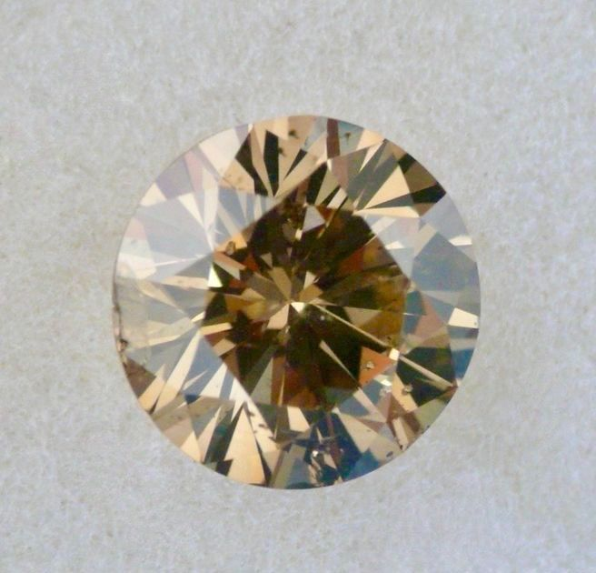 1 pcs Diamant - 1.71 ct - Brillant - fancy dark yellowish brown - SI2