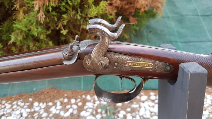 France - F. P. PRELAT A PARIS - Hunting - Percussions - Fusil de chasse - 14mm cal