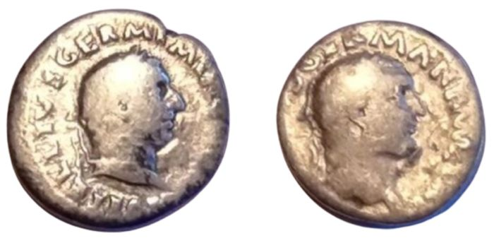 Roman Empire - Lot of 2 AR Denarii, Vitellius (2nd January – 20th December 69) - Silver