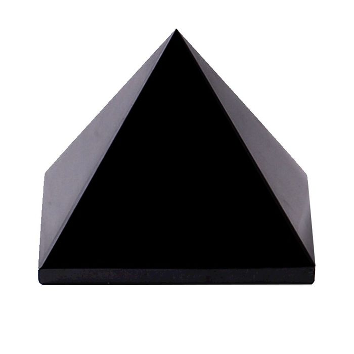 Obsidian  The pyramid Exquisite polished sculpture - 150×150×150 mm - 3200 g