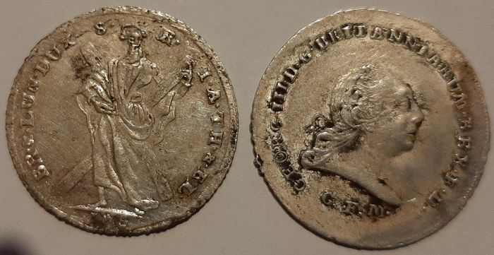 Germany - 1 / 6 Thaler 1771 + 1803 Hannover - Georg III - 2 coins - Silver
