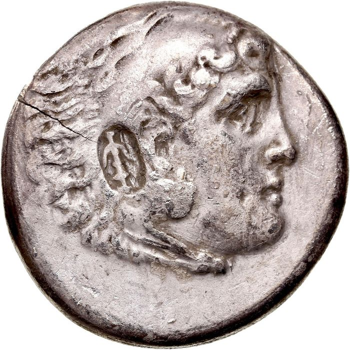 Greece (ancient) - Pamphylia, Aspendos AR Tetradrachm, Civic issue in the name and types of Alexander III of Macedon. Dated CY 24 = 189/8 BC - Silver