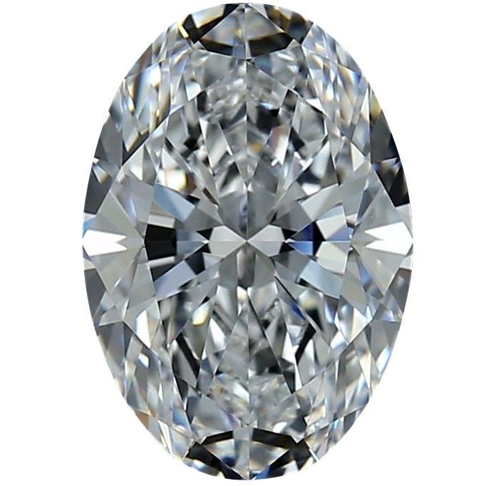 1 pcs Diamante - 0.42 ct - Ovalado - D (incoloro) - VVS2