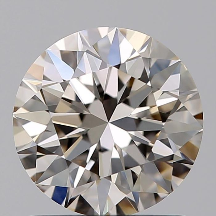 1 pcs Diamond - 1.14 ct - Brilliant, Round - Faint brown - VVS1