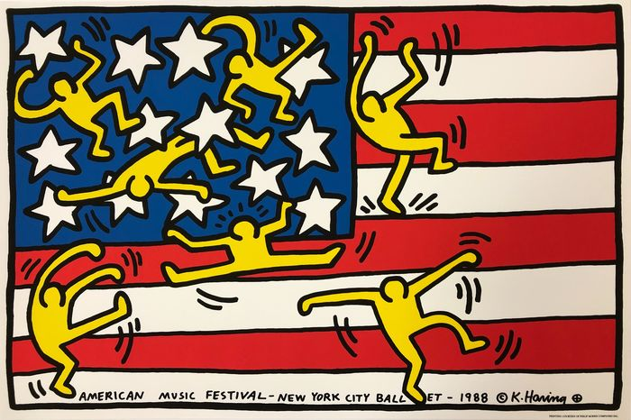 Keith Haring (after) - AMERICAN MUSIC FESTIVAL - NEW YORK CITY BALLET - Anni '80