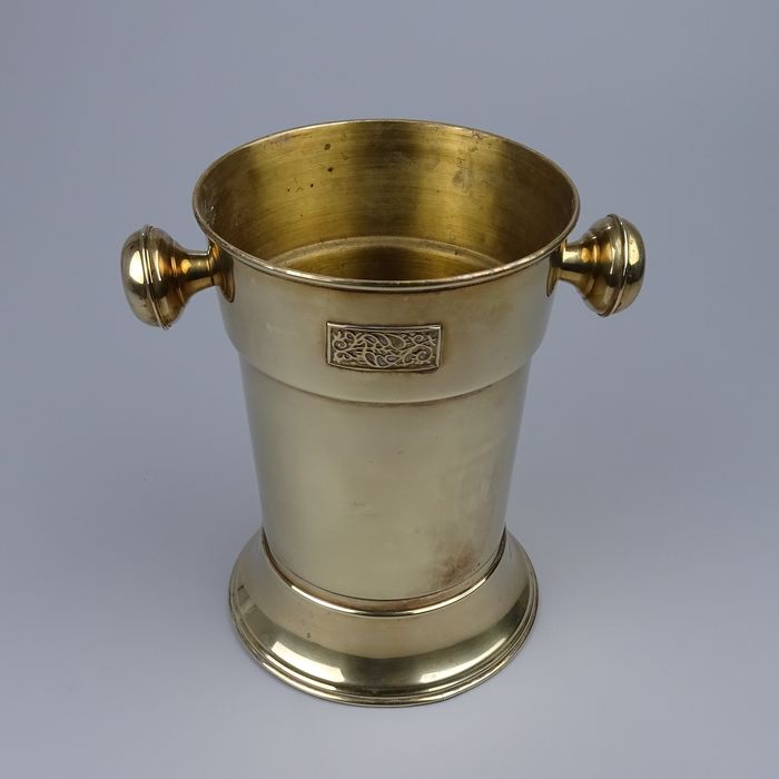 Art Deco Brass Wine Cooler or Champagne Cooler