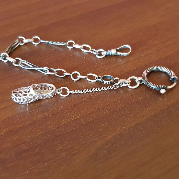 Silver chain - for pocket watch - Unisex - 1901-1949