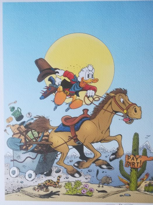Hand-signed print by Don Rosa. NO RESERVE! - The Raider of the Copper Hill - Losbladig - Eerste druk - (2019)
