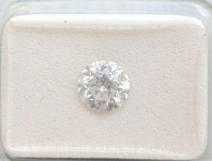 Diamant - 1.02 ct - Brillant - D (incolore) - SI2, No Reserve Price