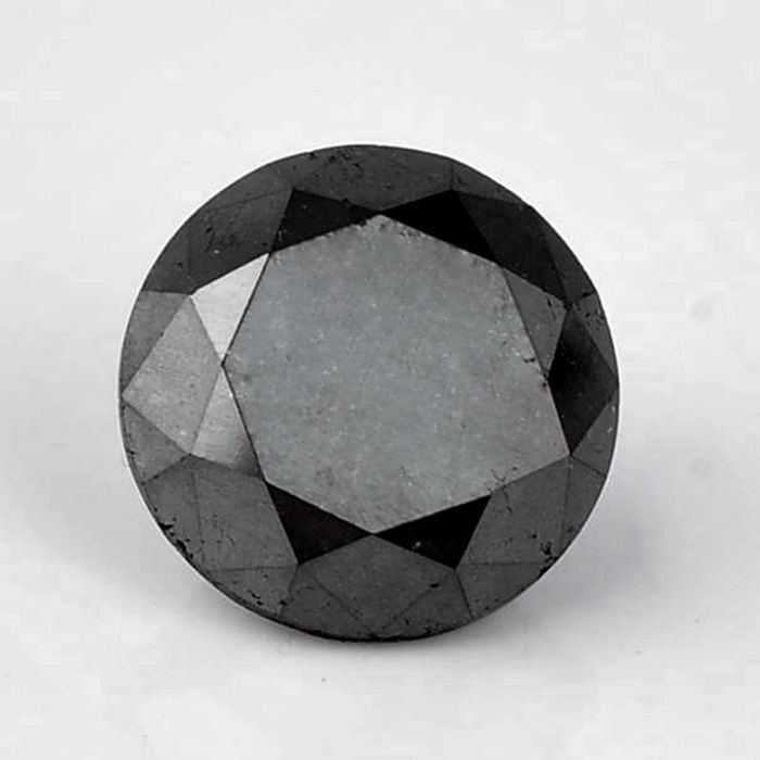1 pcs Diamond - 5.14 ct - Brilliant, Round - fancy black - Not mentioned on certificate