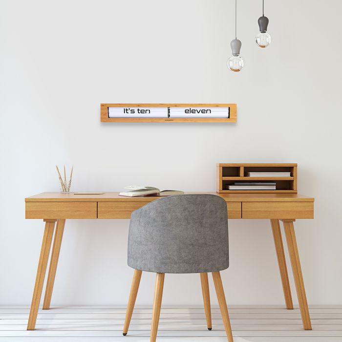 Cloudnola Design Studio - Cloudnola - Pendule - Long Flip Klok Texttime (length 60 cm)
