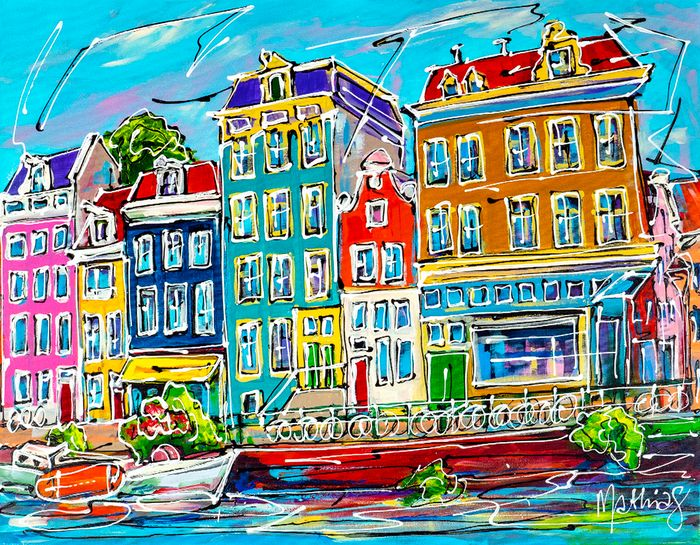 Mathias - Canal of Amsterdam traditional houses