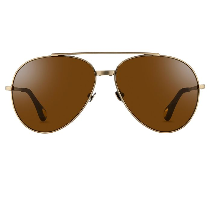 Ann Demeulemeester - Aviator Titanium Brushed Antique Silver 925 Silver with Brown Lenses CAT3 AD14C3SUN Sunglasses