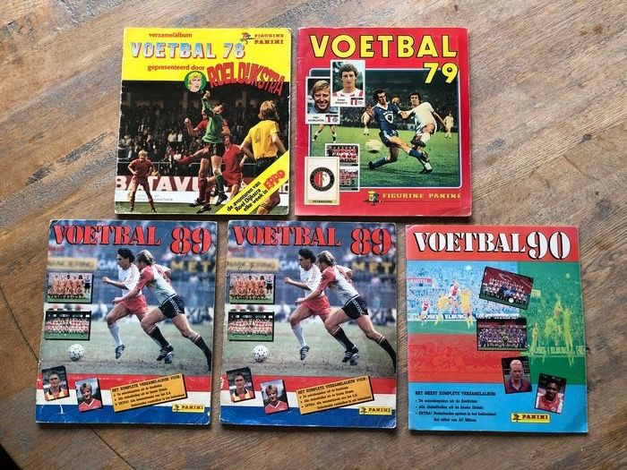 Panini - Dutch Eredivisie Voetbal 78/79/89/90 - 5 albums complets