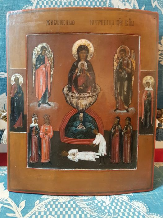 Icon, Mother of God of the Life Spending Well (1) - Wood - 19th century