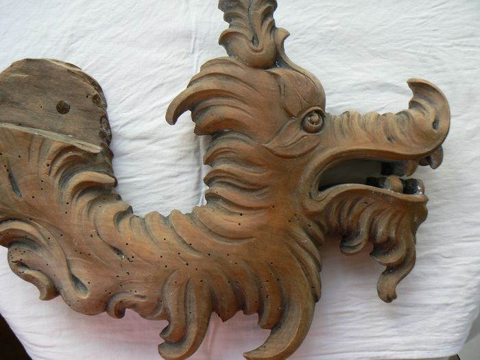 Wood carving - dragon - Wood - 18th century