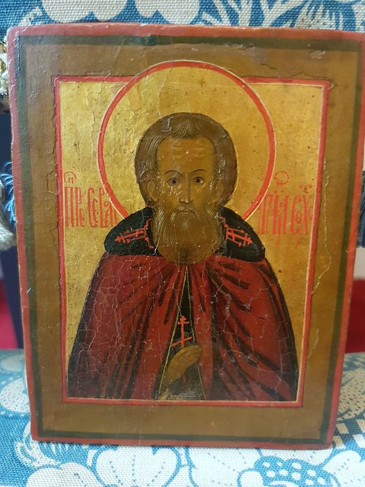Icon, Sebastian of Sokhota  - Wood - 19th century