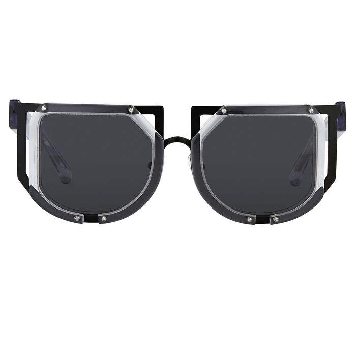"Kokon To Zai - Special Clear Black With Dark Grey Category 3 Lenses ""NO RESERVE PRICE"" Sunglasses"