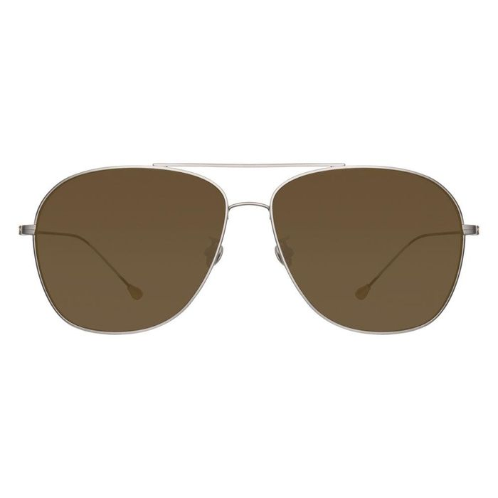 Ann Demeulemeester - Aviator Antique Silver 925 Silver with Brown Lenses CAT3 AD48C3SUN Sunglasses