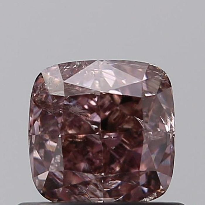 1 pcs Diamant - 0.71 ct - Coussin - fancy dark brown pink - I2, ***pink champagne***