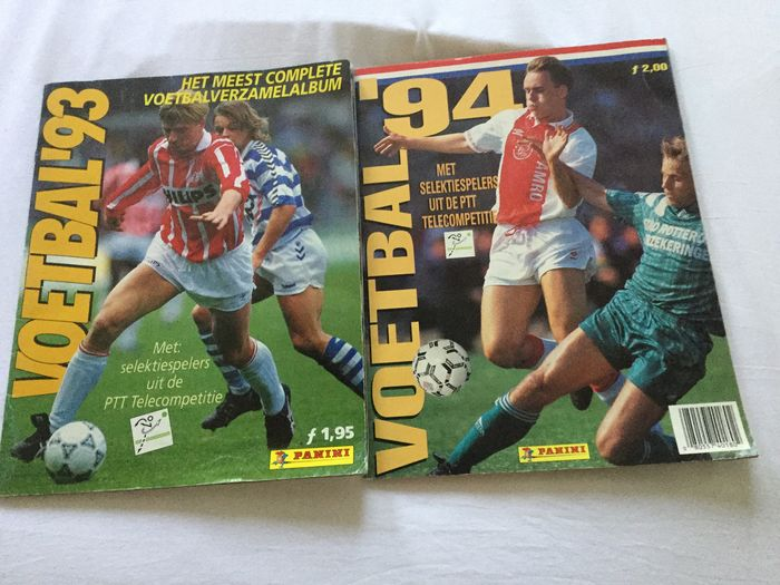 Panini - Voetbal 93 + 94 - 2 albums complets