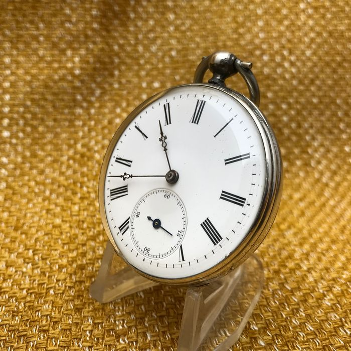 Silver Pocket Watch - Open face - NO RESERVE PRICE - Heren - 1850-1900