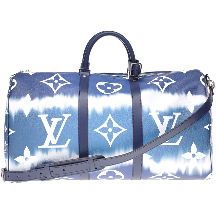 Louis Vuitton - BRAND NEW -LIMITED EDITION-Keepall 50 bandoulière bleu-collection Escale Travel bag