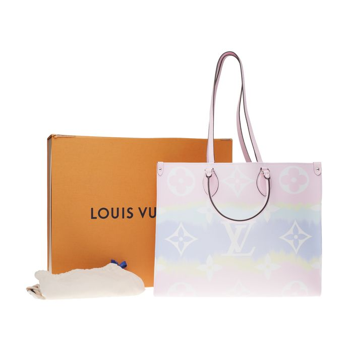 Louis Vuitton - BRAND NEW/LIMITED EDITION - Cabas ONTHEGO GM collection Escale en rose Pastel Bolso de mano