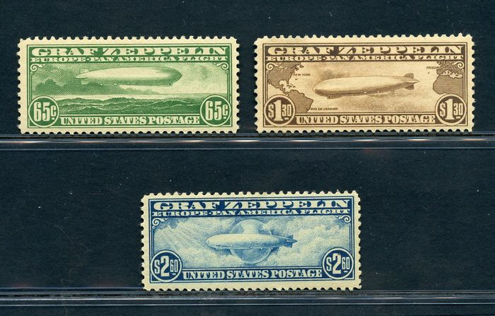 USA 1930 - Airmail - Zeppelin - Unificato NN. PA  13/15