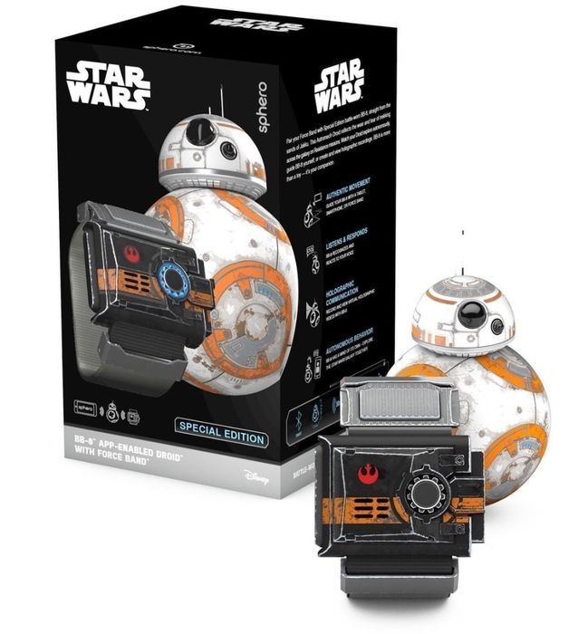 Star Wars - Sphero - BB-8 droid by Sphero with Force Band - Special Edition Battle-Worn