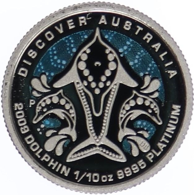 Australia. 15 Dollars 2009 P 'Dolphin - Discover Australia' 1/10 oz - with original Box and Certificate of Authenticity