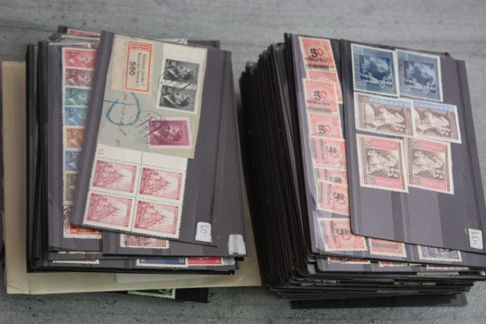 German Empire - Batch of stamps on 153 stock cards