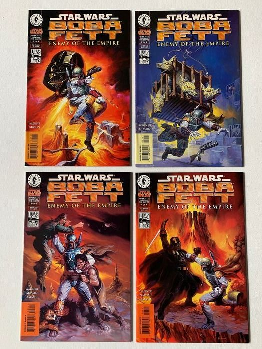 Star Wars Boba Fett - Enemy Of The Empire - Very High Grade - Complete Set #1-4 (John Wagner & Ian Gibson) - Broché - EO - (1999)