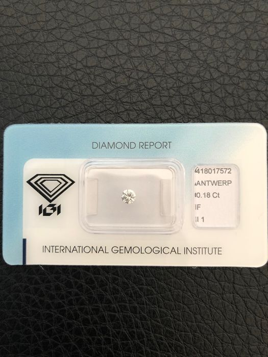 1 pcs Diamond - 0.18 ct - Brilliant, Very Good - F - I1