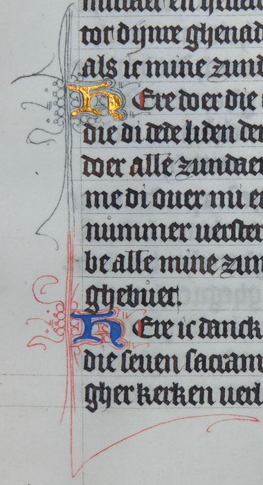 Manuscript - Page from a Dutch Book of Hours - ca.1450 - 1450