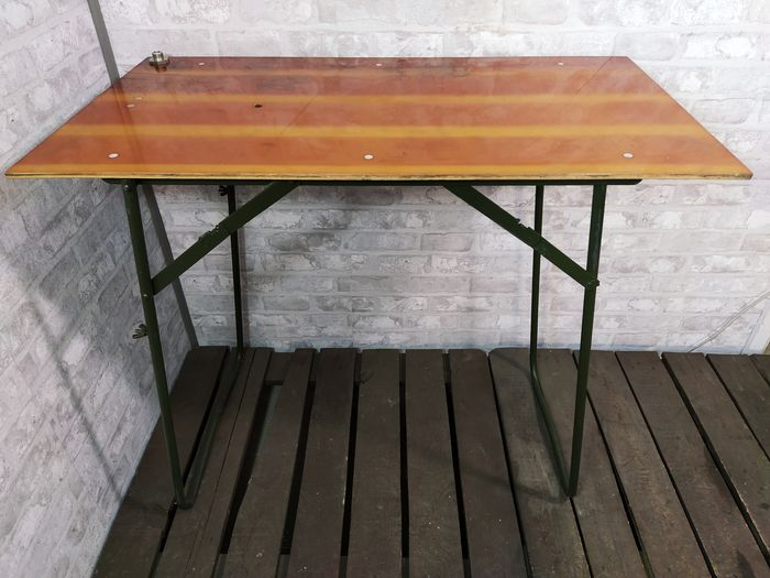 Dining table, Industrial Loft Folding Table, 1960's Military Table