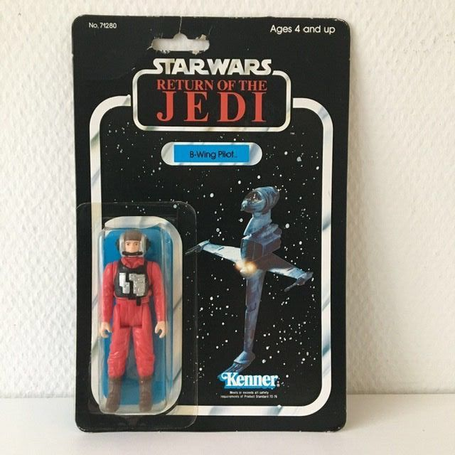 Star Wars - Return of the Jedi - Kenner - Pupazzetto vintage - 1983 - B-Wing Pilot