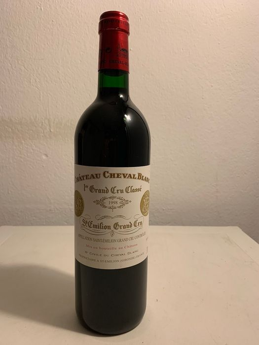 1998 Chateau Cheval Blanc - Saint-Emilion 1er Grand Cru Classé - 1 Bottle (0.75L)