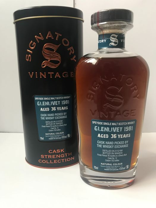 Glenlivet 1981 36 years old - Hand Picked by TWE - Signatory Vintage - 70cl