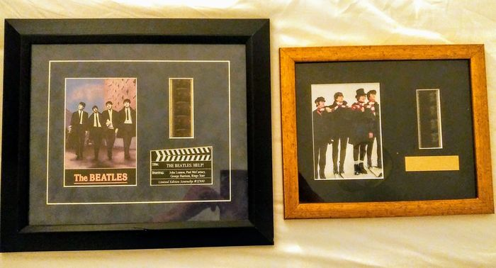 Beatles - Two 1965 Film Cell Memorabilia of the film 'HELP' with COA - Limited edition - 1965/5