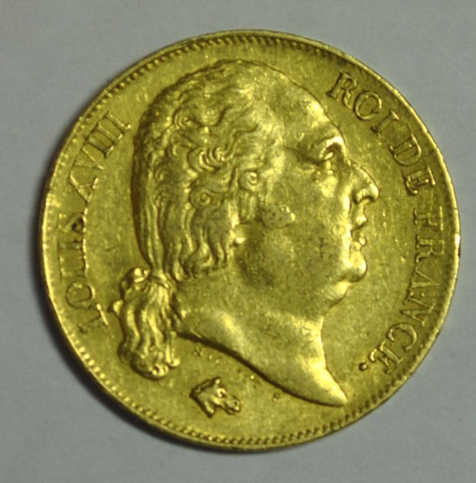 France. Louis XVIII (1814-1824). 20 Francs 1817-W, Lille