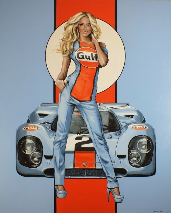 Anonymous - Porsche 917 Gulf 2# Grid Girl - 2000 - Anni 2000