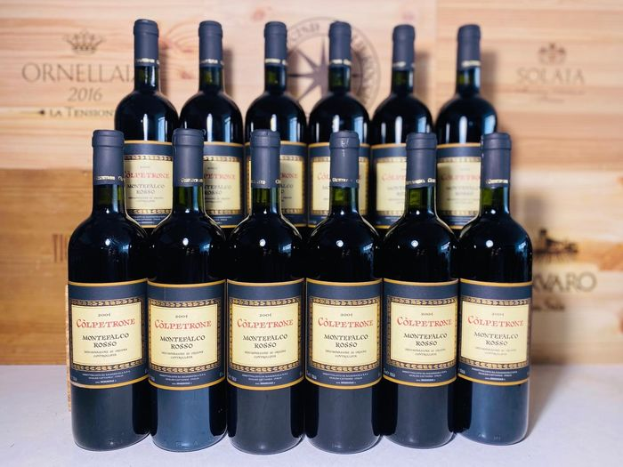 2004 Colpetrone Montefalco Rosso - Umbrien - 12 Flaschen (0,75 l)