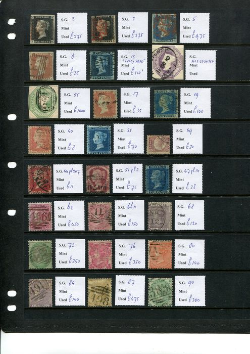 Großbritannien 1840/1900 - Queen Victoria collection with almost all top issues - Stanley Gibbons