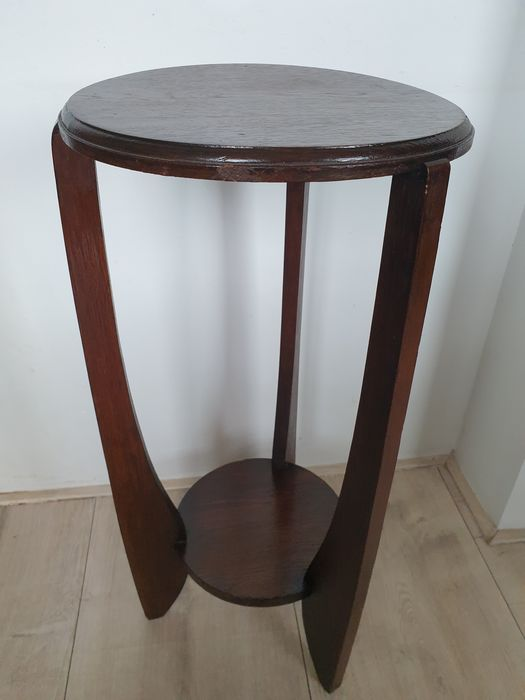 Amsterdam school style plants / side table - Wood- Oak